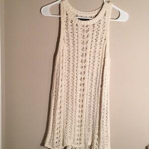 AE cream knit tank top